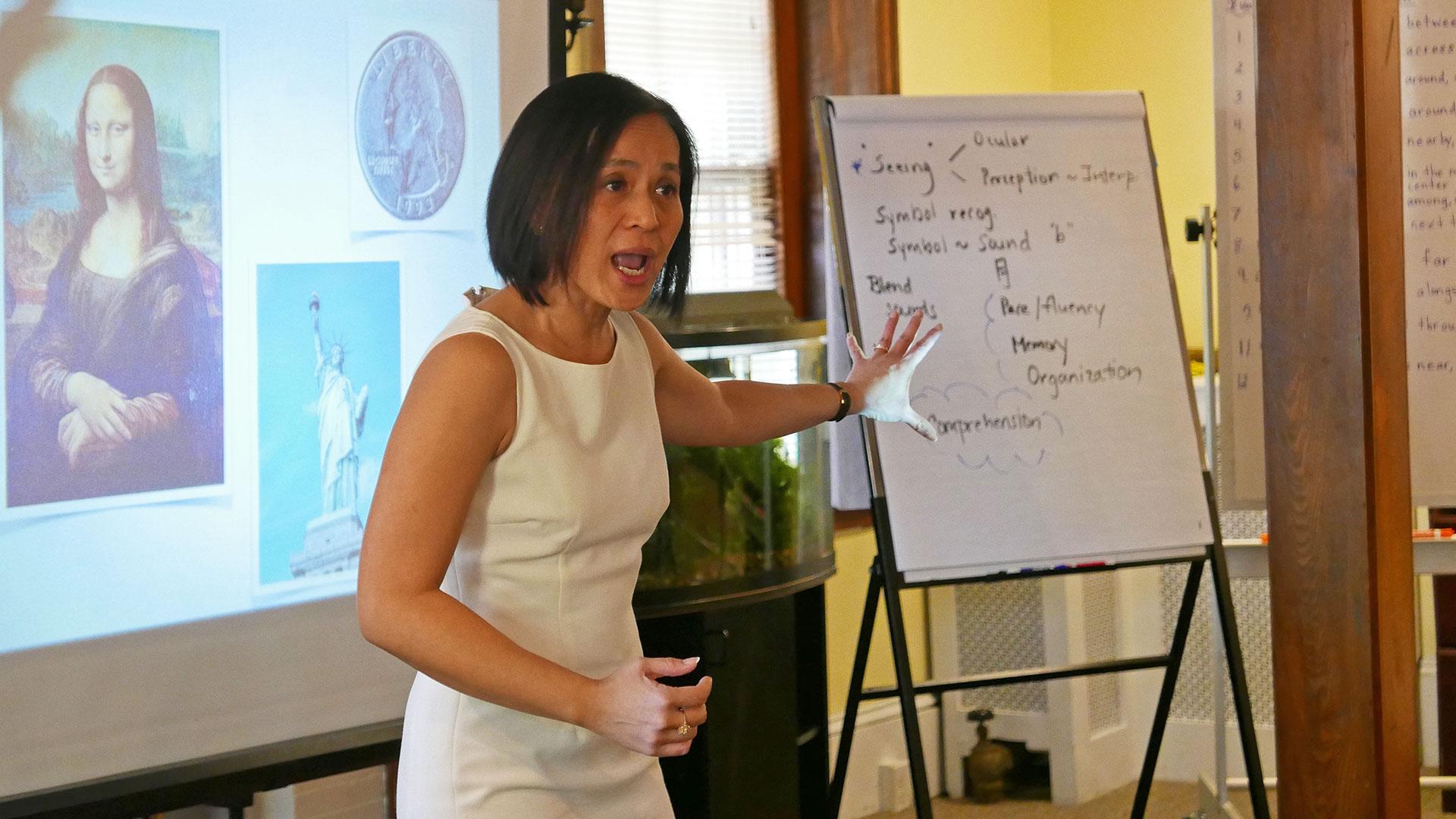 Chantra Reinman lecturing