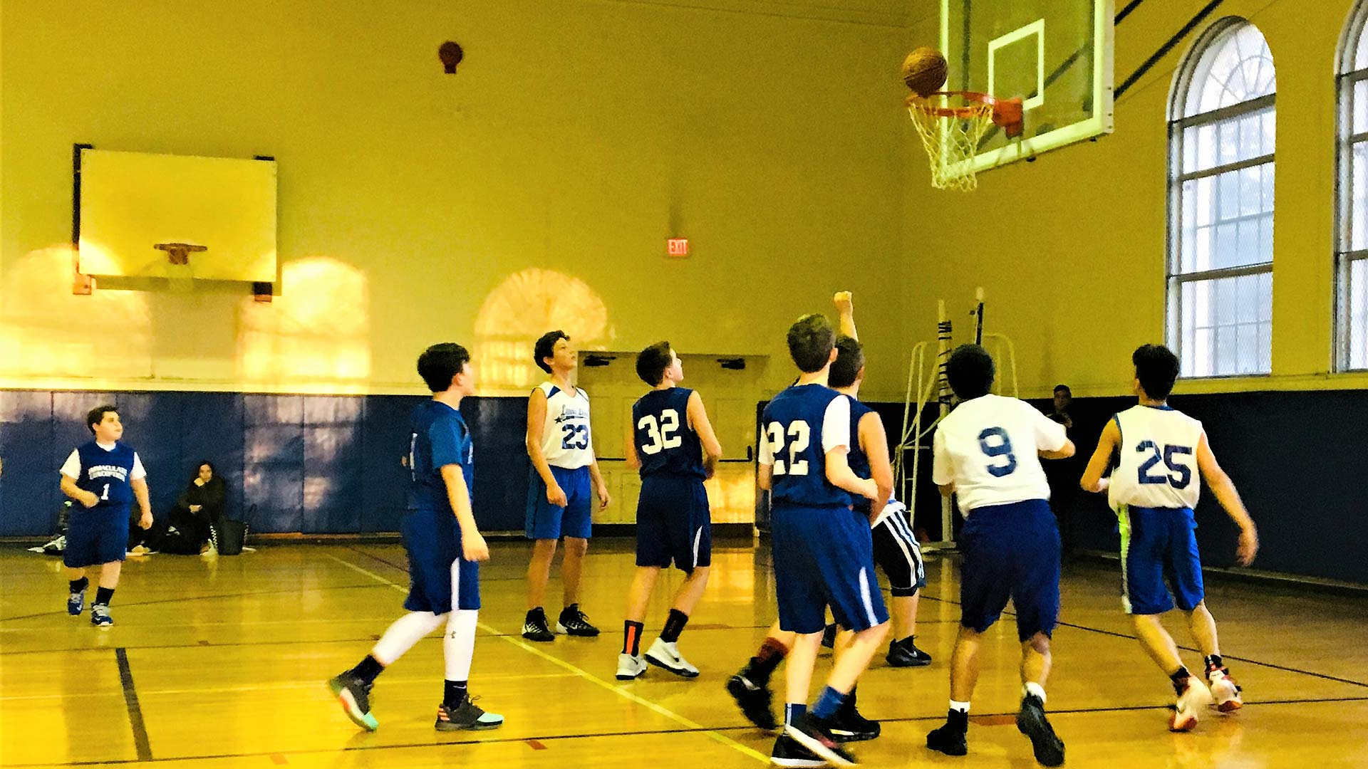 The Lewis School Lions basketball team playing 2018-2019