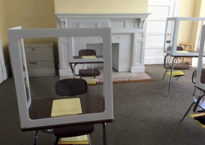 COVID protection for students in classroom at The Lewis School